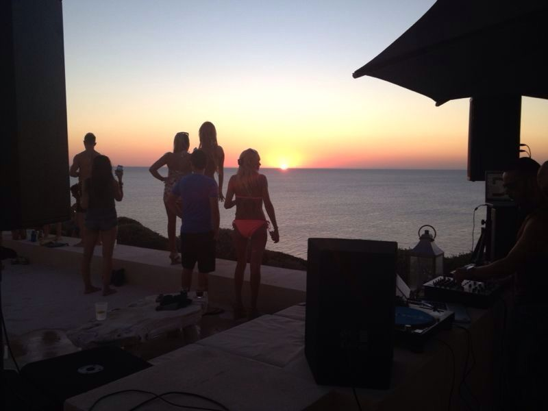 Event planning in private villa event in Ibiza.