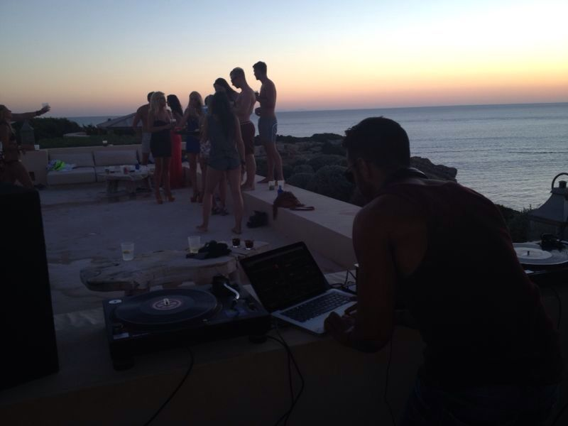 Private villa party Ibiza.