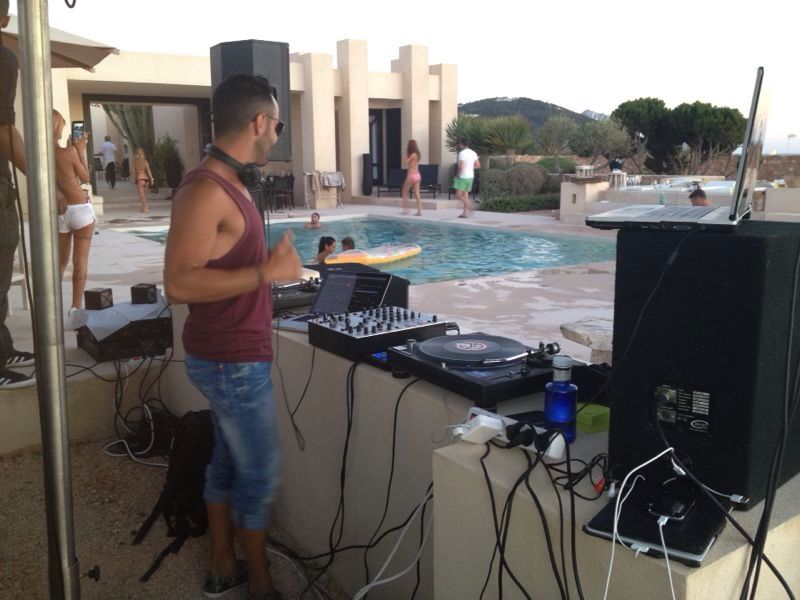 Dj services in Ibiza for private party at villa.